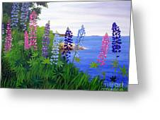 Maine Bay Lupine Flowers Greeting Card