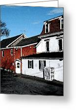 Maine Blue Hill Alleyway Greeting Card