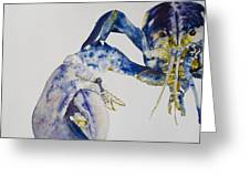Maine Blue Lobster Greeting Card