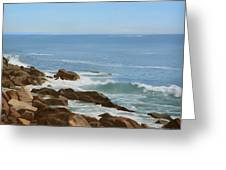 Maine Coast Greeting Card by Linda Tenukas