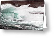 Maine Coast Storm Waves 2 Of 3 Greeting Card