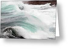 Maine Coast Storm Waves 3 Of 3 Greeting Card