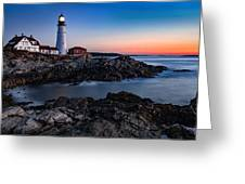 Maine Coastline Sunrise Greeting Card