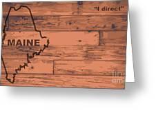 Maine Map Brand Greeting Card