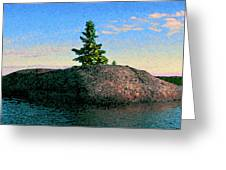 Maine Stone Island Sunrise Greeting Card