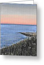 Maine Sunset Greeting Card
