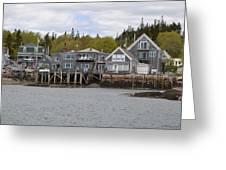 Maine Village Greeting Card