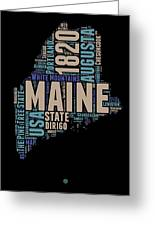 Maine Word Cloud 1 Greeting Card