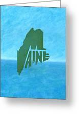Maine Wordplay Greeting Card