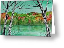 Maine's Autumn Finery Greeting Card