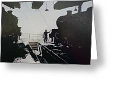 Maintenance Sheds Holbeck Leeds Greeting Card