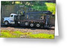 Maintenance Truck Greeting Card