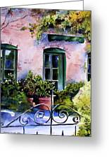 Maison Fleurie Greeting Card