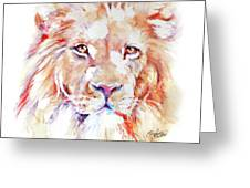 Majestic African Lion Greeting Card
