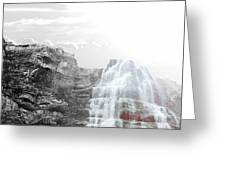 Majestic Falls Selective Color Greeting Card