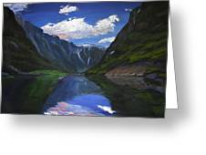 Majestic Fjords Greeting Card