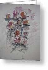 Majestic Floral J Greeting Card