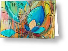 Spirit Lotus With Hope Greeting Card by TM Gand
