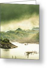 Majestic Morning Lake Greeting Card