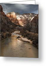 Majestic Mountains-zion Greeting Card