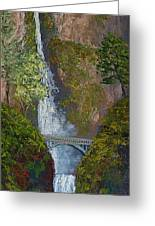 Majestic Multnomah Greeting Card by Ron Smothers