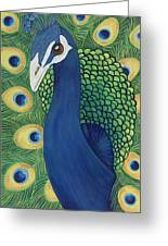 Majestic Peacock Greeting Card