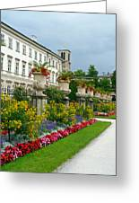 Majestic Salzburg Garden Greeting Card