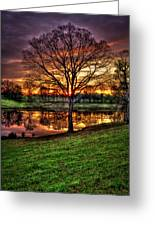 Majestic Sunrise Reflections Art Greeting Card