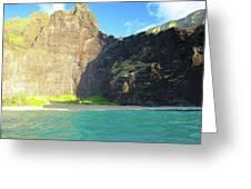 Majestic Wall Western Kauai Greeting Card