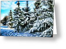 Majestic Winter In New England  Greeting Card