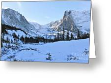 Majestic Winter Landscape Greeting Card