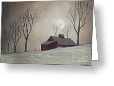 Majestic Winter Night Greeting Card