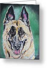 Major, The German Shepherd  Greeting Card