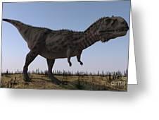 Majungasaurus In A Barren Environment Greeting Card