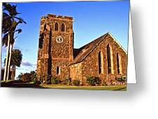 Maui Hawaii Makawao Union Church II Greeting Card