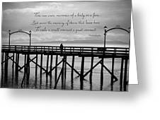 Make A Small Moment A Great Moment - Black And White Art Greeting Card