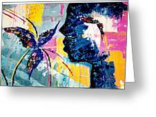 Make A Wish Abstract Art Figure Painting  Greeting Card