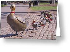 Make Way For The Ducklings Greeting Card