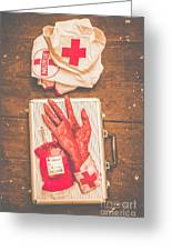 Make Your Own Frankenstein Medical Kit  Greeting Card
