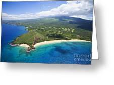 Makena Beach Aerial Greeting Card