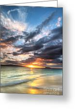Makena Beach Maui Hawaii Sunset Greeting Card