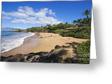 Makena, Changs Beach Greeting Card