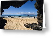 Makena View From Secret Beach Greeting Card
