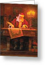 Making A List Greeting Card by Greg Olsen
