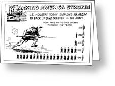Making America Strong Cartoon Greeting Card
