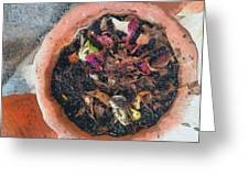 Making Compost Out Of Garbage Greeting Card