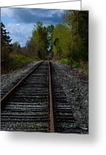 Making Tracks Greeting Card