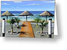 Makry Gialos Beach Greeting Card