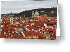 Mala Strana Rooftops. Prague Spring 2017 Greeting Card