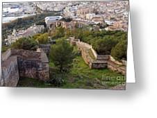 Malaga Fortifications Greeting Card